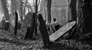 Fotografování starého židovského hřbitova v Cieszyně