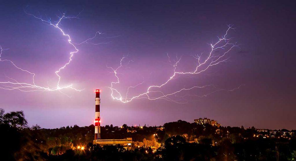 Fotografování blesků nad Českým Těšínem