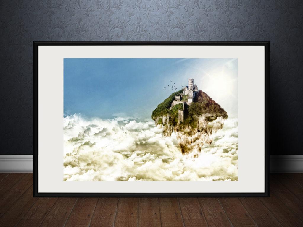 Fotomanipulace | Zámek v oblacích